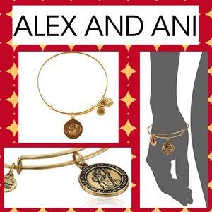 Alex & Ani Bangle St. Christopher Gold Bangle